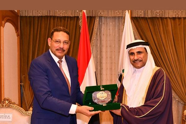 زيارة وفد البرلمان العربي لهيئة الرقابة الادارية